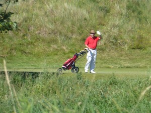 Howie on Jubilee course